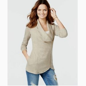 INC Asymmetrical Zip Cardigan NWT